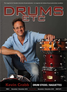Kevin Crabb Article in Drums Etc. - December 2010 issue